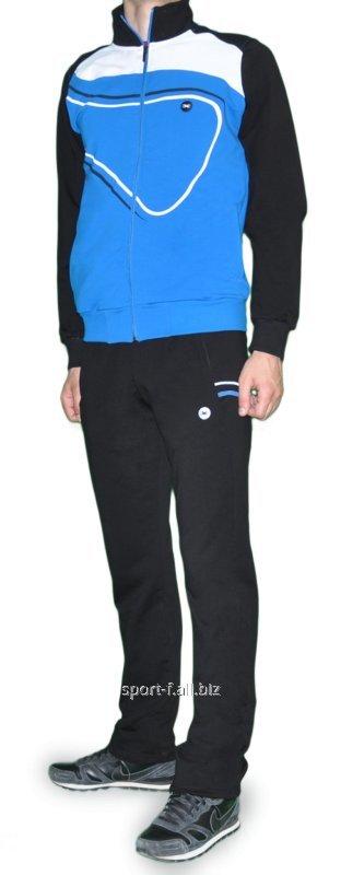 Купить Спортивный костюм MXC черно-голубой