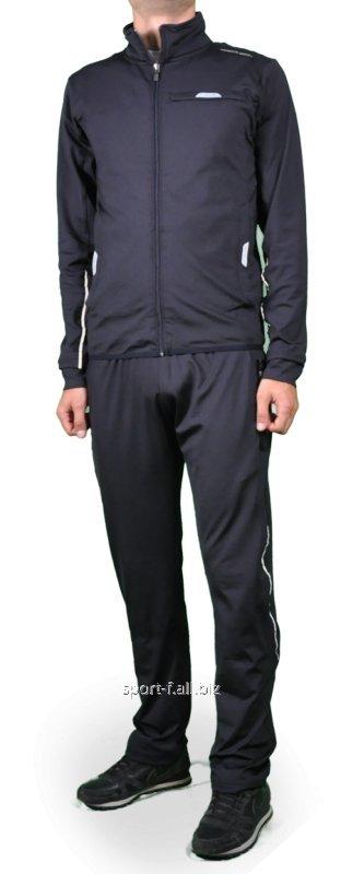 Спортивный костюм Adidas Porsche Design черный мужской с белыми полосами