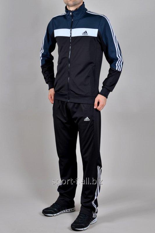 Купить Спортивный костюм Adidas черный с логотипом