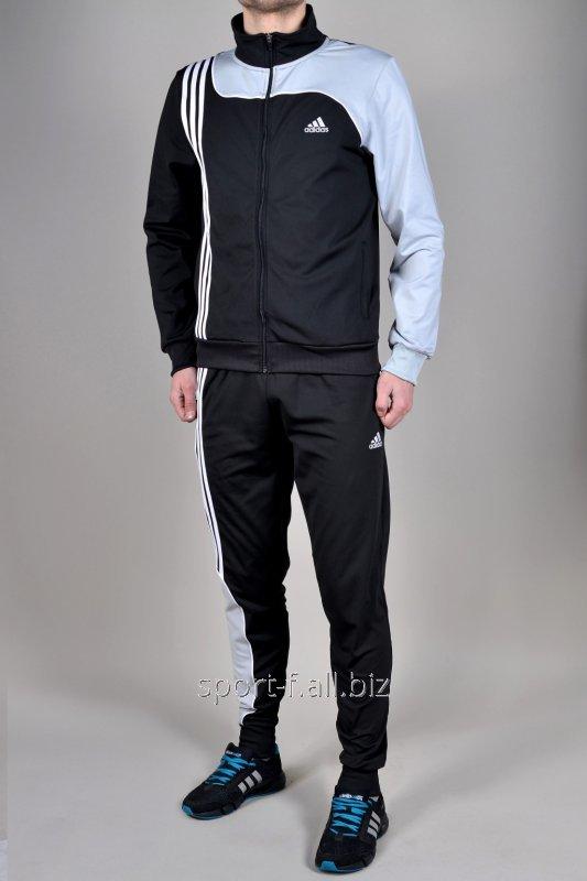 Купить Спортивный костюм Adidas черный зауженные штаны