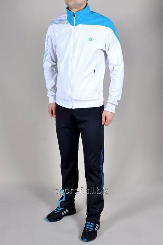 Спортивный костюм Adidas  F50 штаны черные мастерка бело-голубая