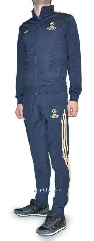 Купить Спортивный костюм Adidas Лига чемпионов серый с логотипом