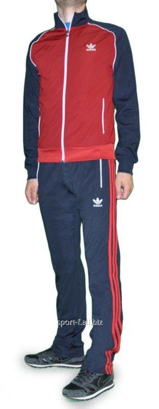 Купить Спортивный костюм Adidas мужской серый с красным