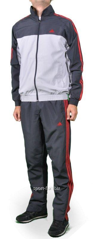 Спортивный костюм мужской Adidas серый