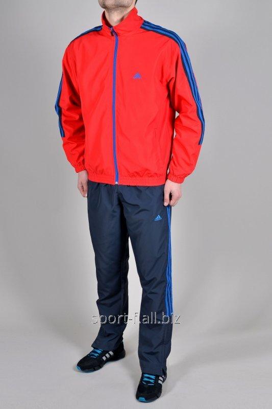 Спортивный костюм Adidas штаны серые мастерка красная