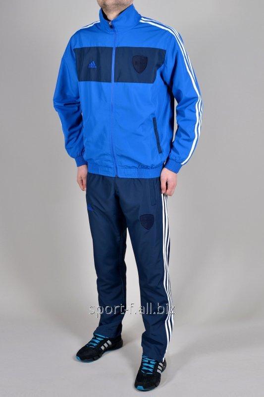 Спортивный костюм Adidas 11 pro синий мастерка голубая