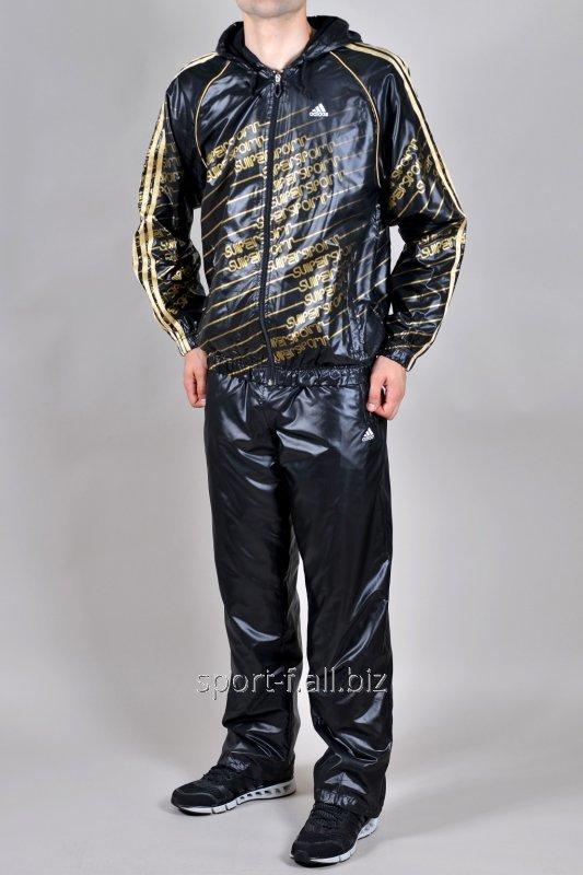 Спортивный костюм Adidas черный из плащевки