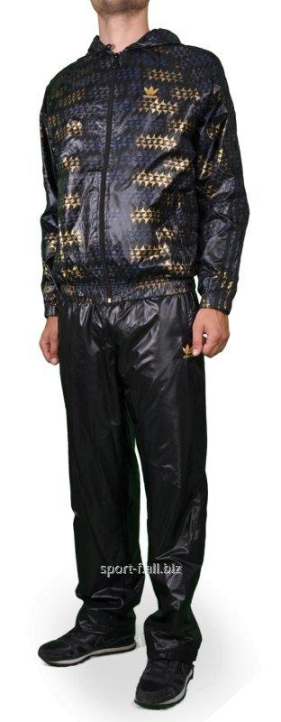 Купить Спортивный костюм мужской черный Adidas