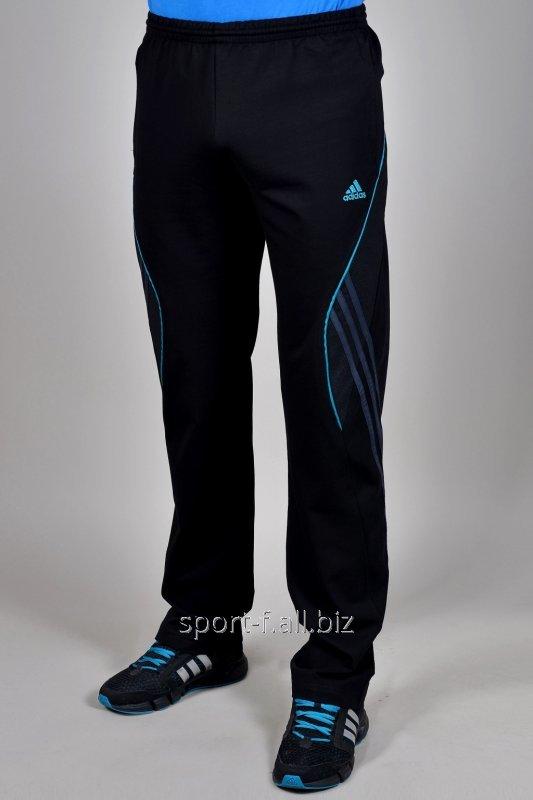 Брюки спортивные Adidas черные с синим