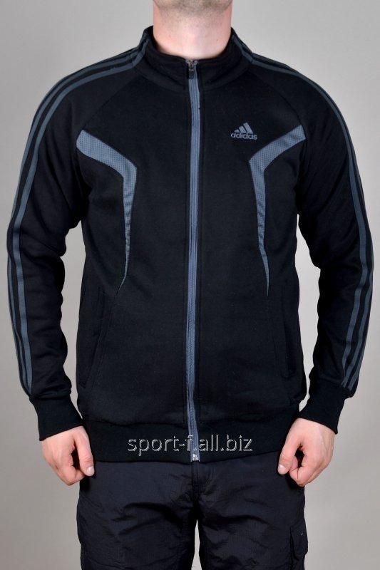 Мастерка Adidas зимняя черная на молнии