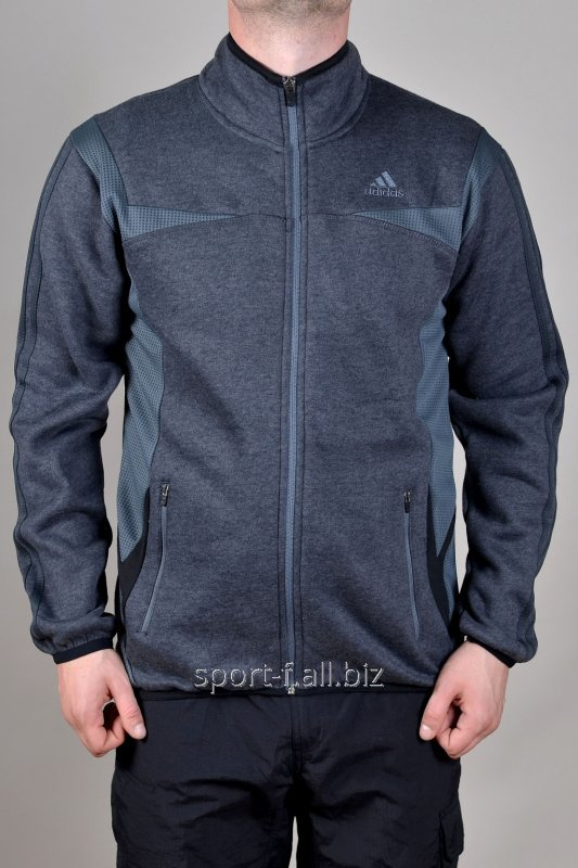 Мастерка Adidas зимняя серая мужская