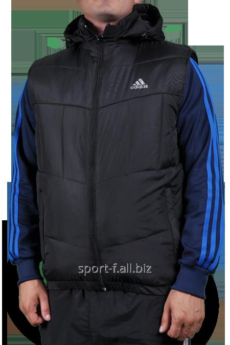 Жилет Adidas мужской черный с капюшоном