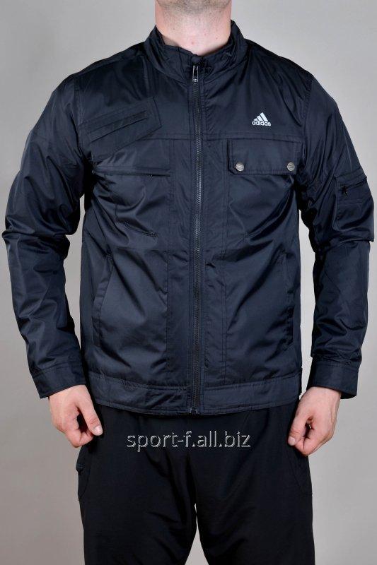 Купить Ветровка черная с карманами Adidas