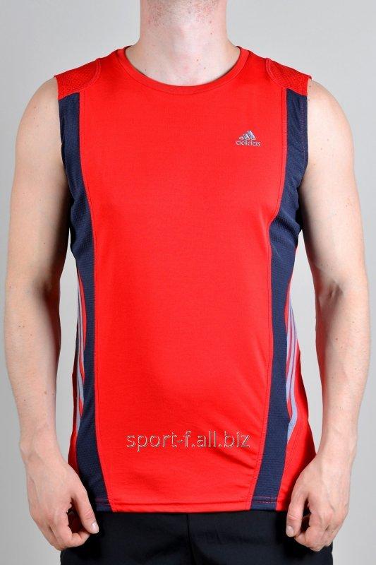 Безрукавка Adidas красно-черная
