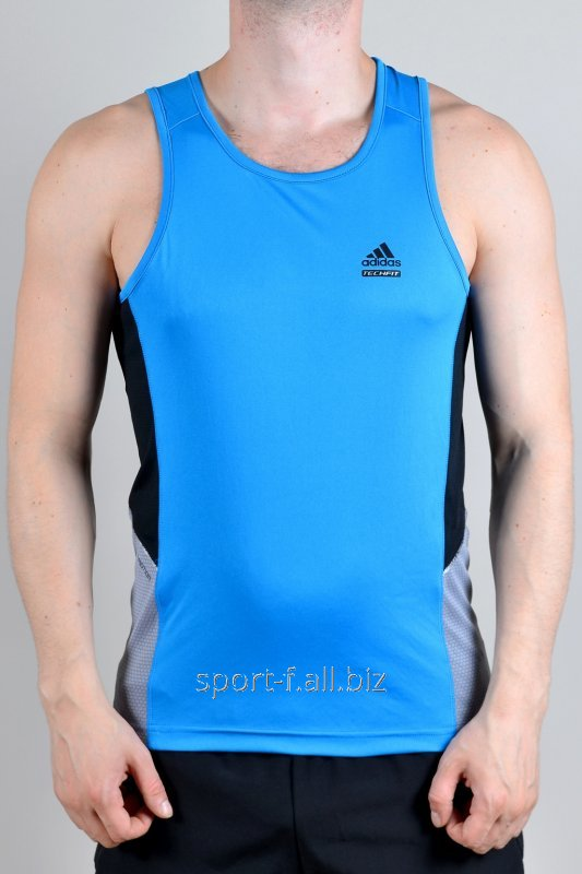 Майка Adidas голубая спортивная