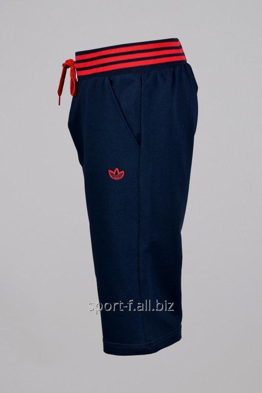 Бриджи Adidas синие с красной резинкой