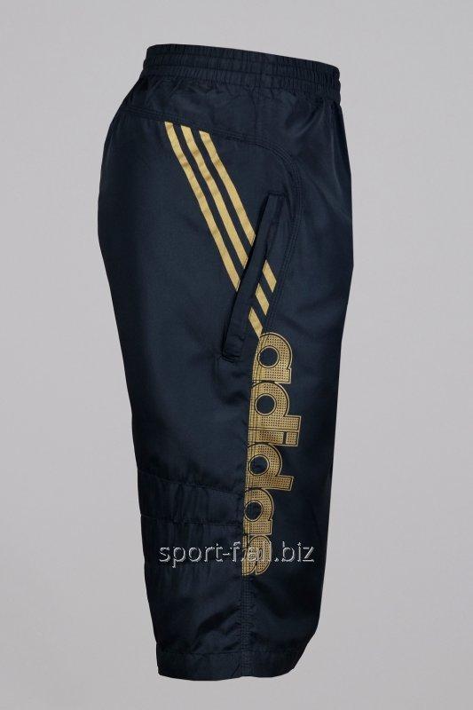 Бриджи Adidas черные с полосами