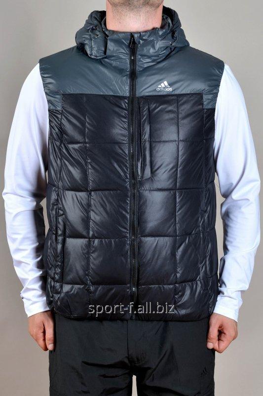 Жилет Adidas черный с серым