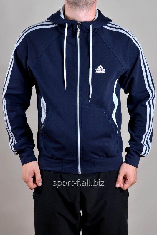 Мастерка мужская Adidas синяя на молнии