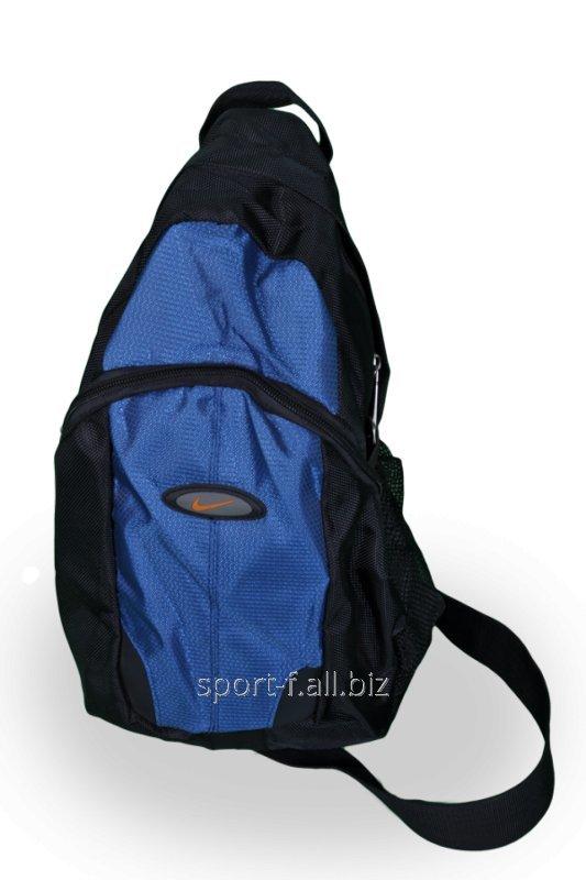 Сумка спортивная Nike черная с синим