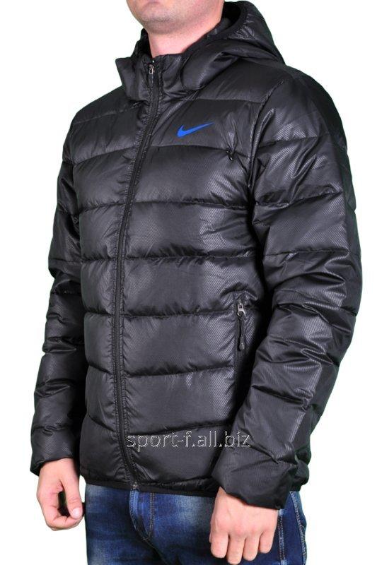Пуховик Nike мужской черный короткий