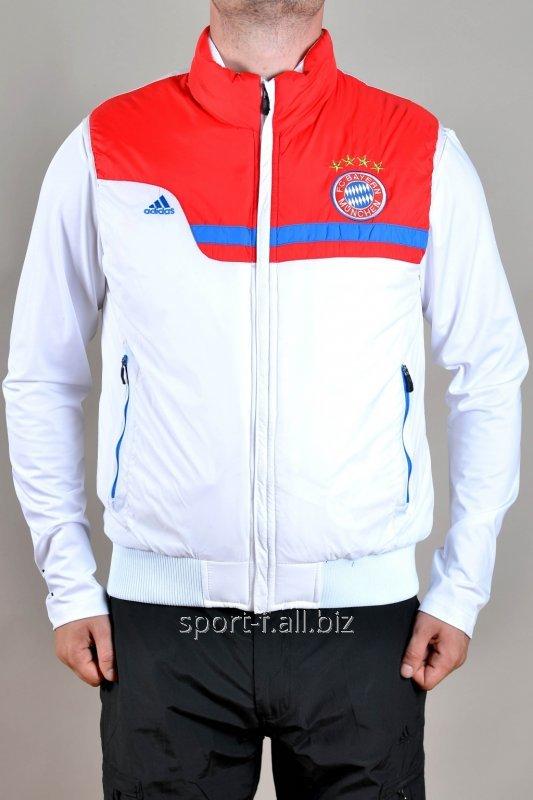 Жилет Adidas  Bayern München мужской бело-красный