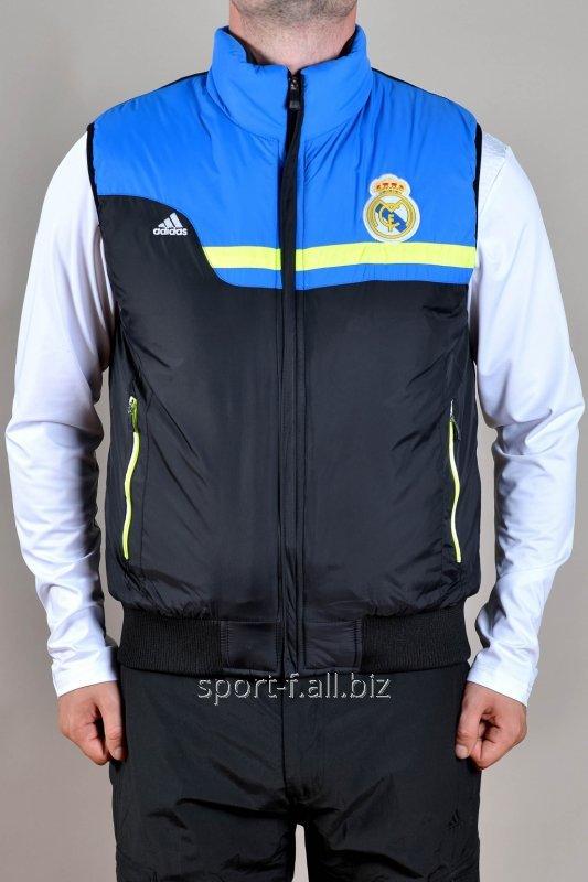 Жилет мужской Adidas   Real Madrid черно-голубой