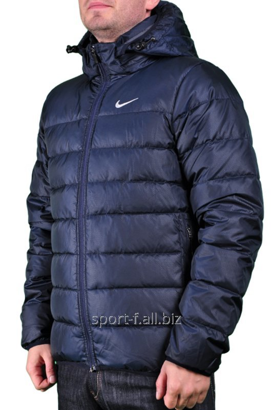 Пуховик Nike синий мужской
