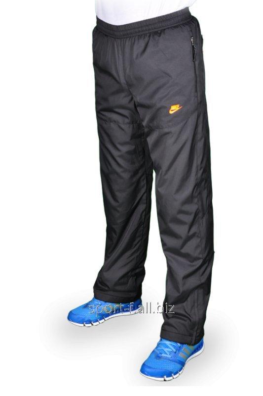 Зимние спортивные брюки на флисе Nike.