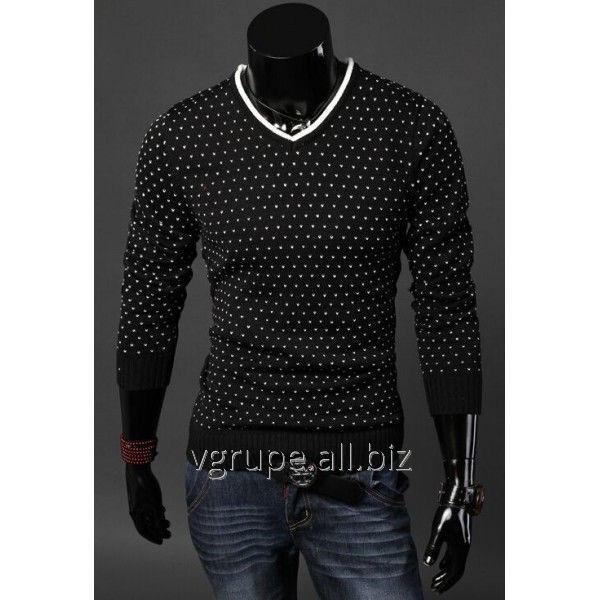 Купить Мужской свитер Белые точки, мужской пуловер, кофта мужская, чоловіча кофта