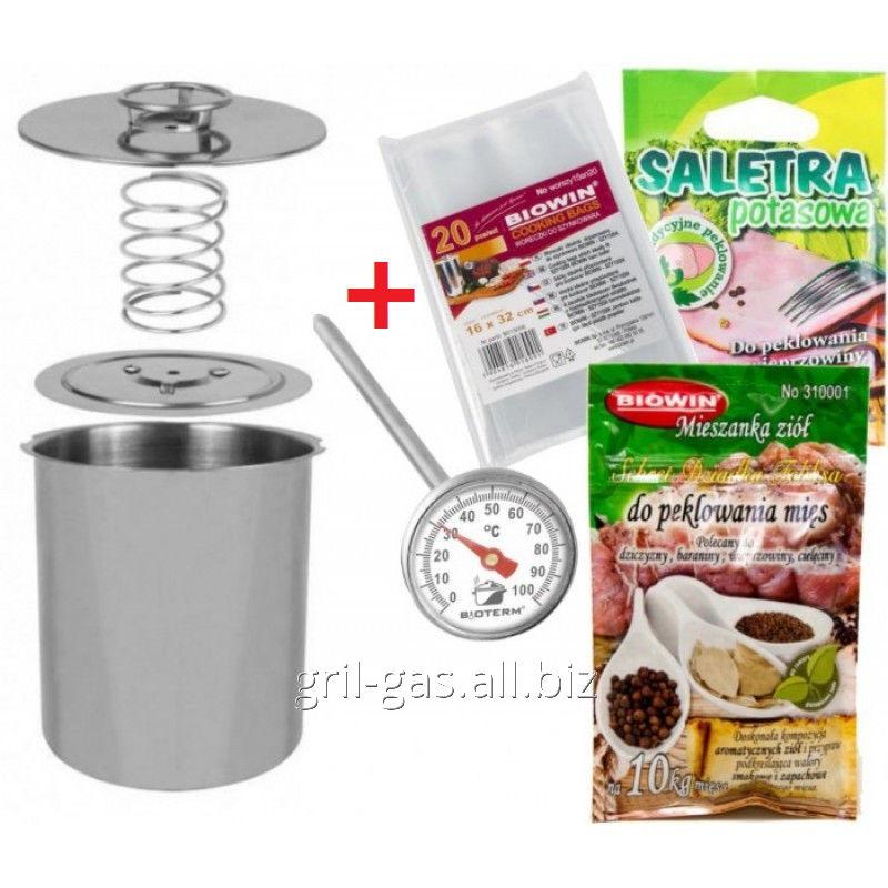 Ветчинница Biowin+ в подарок термометр+набор пакетов+ специи на 3 кг мяса, арт. 256312449