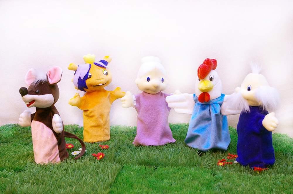 Купить Кукольный театр, перчаточные куклы. Мини-театр №1 Курочка-ряба