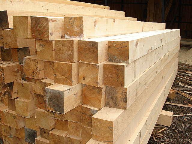 Деревянный  сосновый брус сухой 50х200 / 50x150