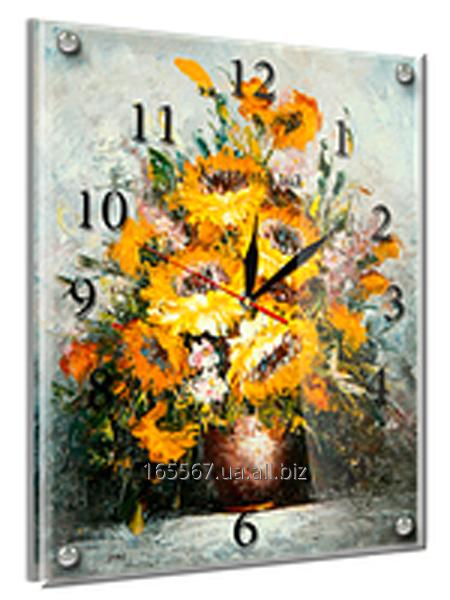 Часы под стеклом 30 х 40 см 37