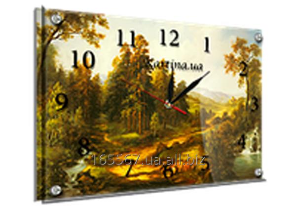 Часы под стеклом 30 х 40 см 418