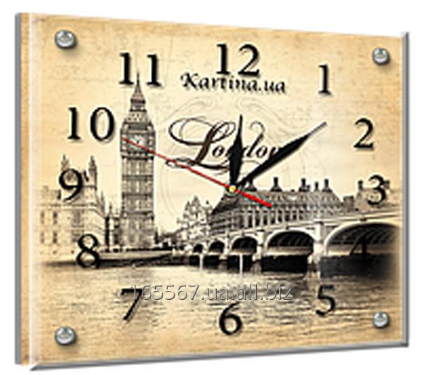 Часы под стеклом 20 х 25 см L-1