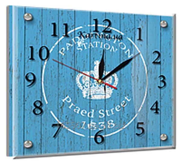 Часы под стеклом 20 х 25 см L-7
