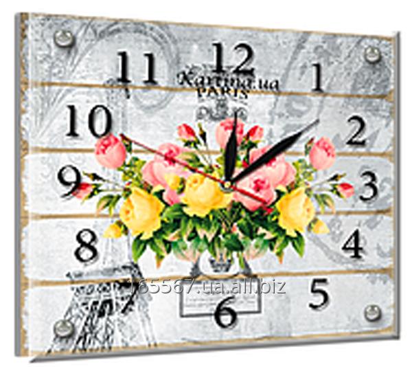Часы под стеклом 20 х 25 см L-22