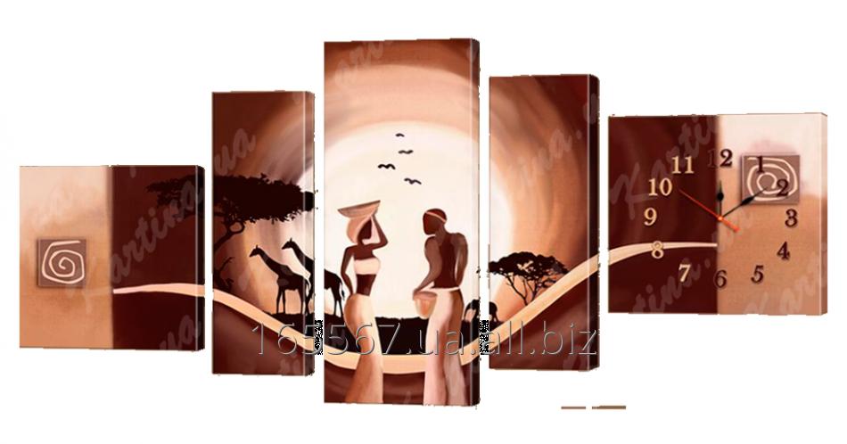 Картина модульная с часами 157 157T