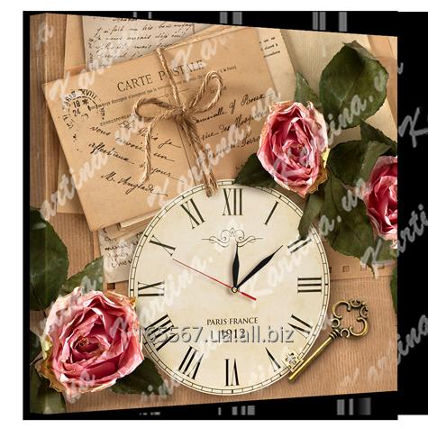 Часы на холсте 53 х 53 см D-1