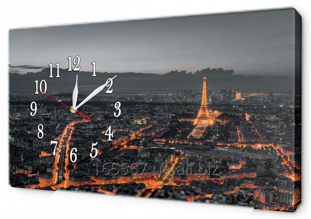 Часы-картина на холсте 30 х 53 см 6