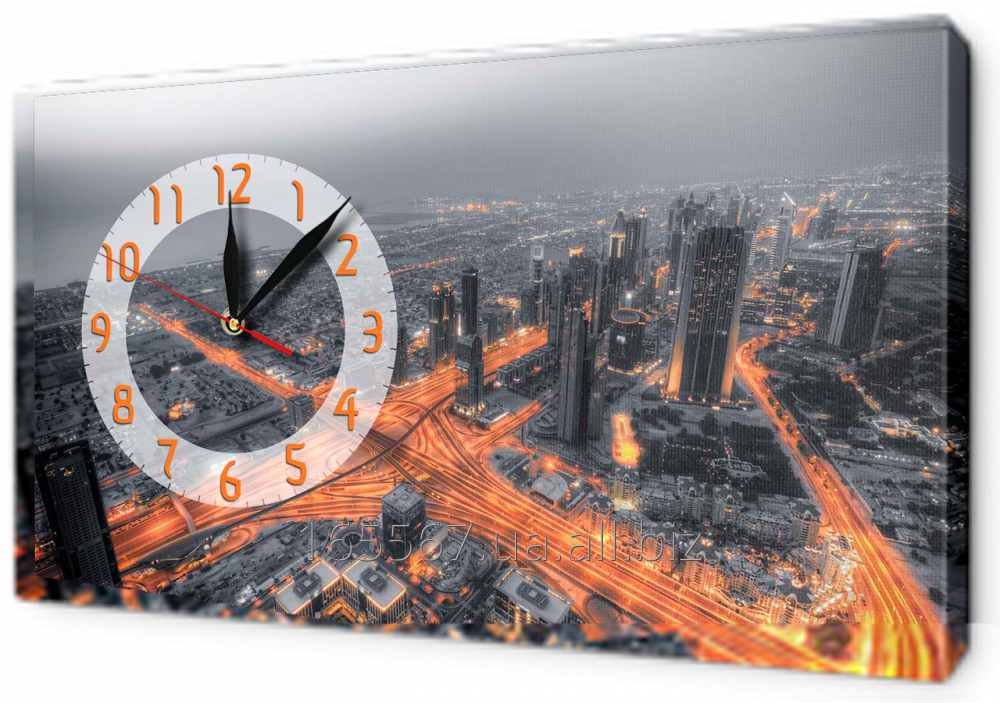 Часы-картины на холсте 30 х 53 см 7