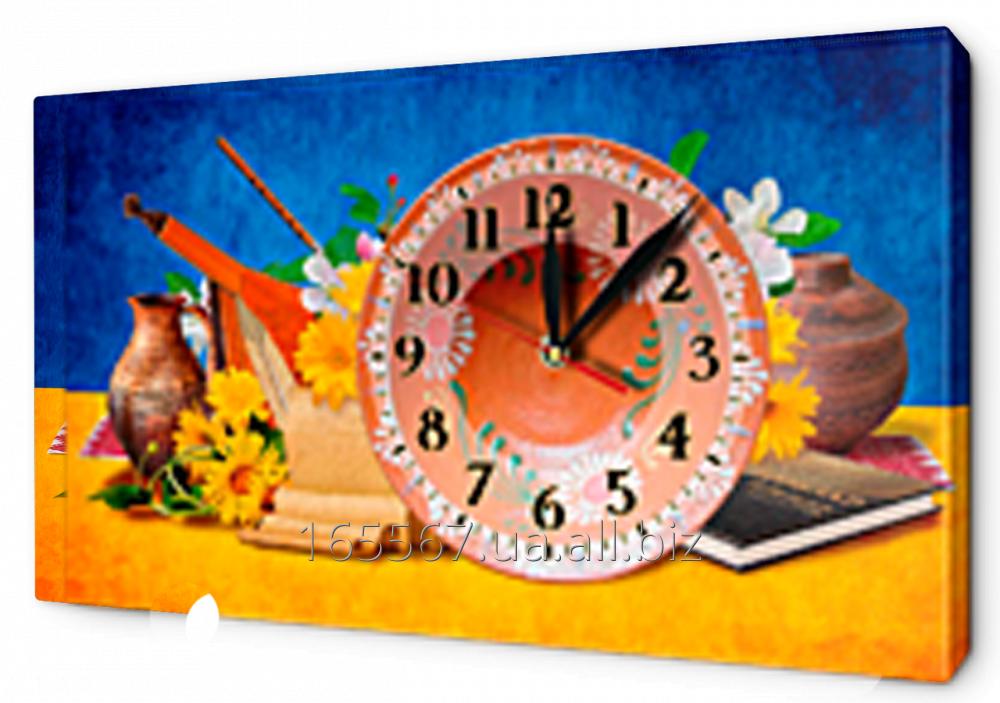 Часы-картина на холсте 30 х 53 см UA3