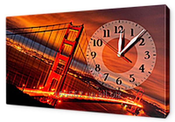 Часы-картины на холсте 30 х 53 см G195