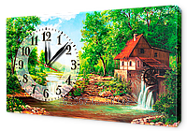 Часы на холсте 30 х 53 см K109