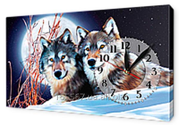 Часы-картины на холсте 30 х 53 см K247
