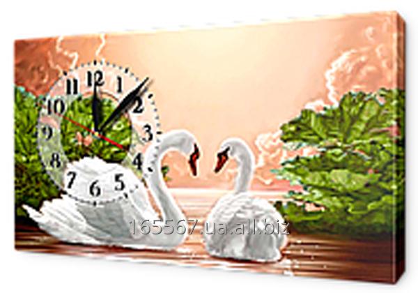 Часы-картины на холсте 30 х 53 см K249