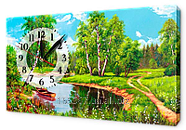 Часы на холсте 30 х 53 см K316