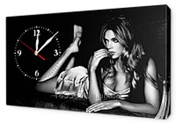 Часы на холсте 30 х 53 см K477