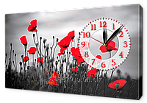 Часы-картина на холсте 30 х 53 см K607